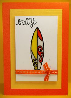 Candy corn surfboard