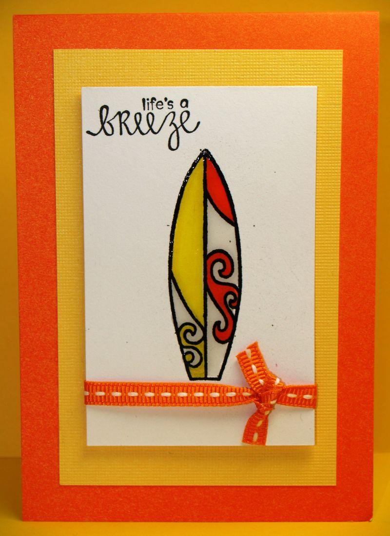Candy corn surfboard